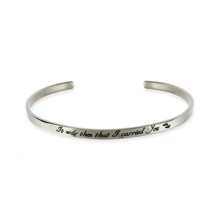 Footprints In The Sand Stainless Steel Cuff Bracelet | Eve's Addiction®