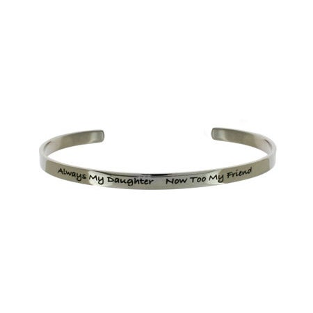Always My Daughter Stainless Steel Cuff Bracelet | Eve's Addiction®