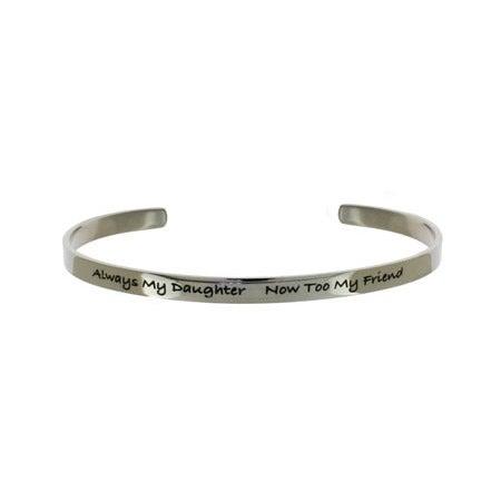 Always My Daughter Stainless Steel Cuff Bracelet   Eve's Addiction®