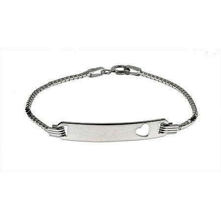Engravable Box Link Childrens ID Bracelet | Eve's Addiction®