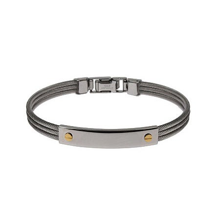 Designer Inspired Screw Motif Engravable Cable ID Bracelet | Eve's Addiction®