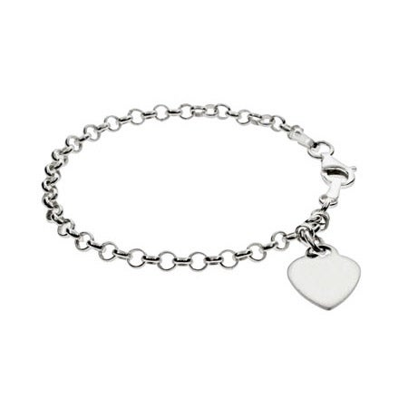 Kids Engravable Heart Tag Bracelet | Eve's Addiction®