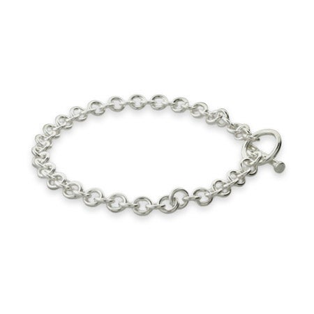 Sterling Silver 8 Inch Toggle Bracelet | Eve's Addiction®