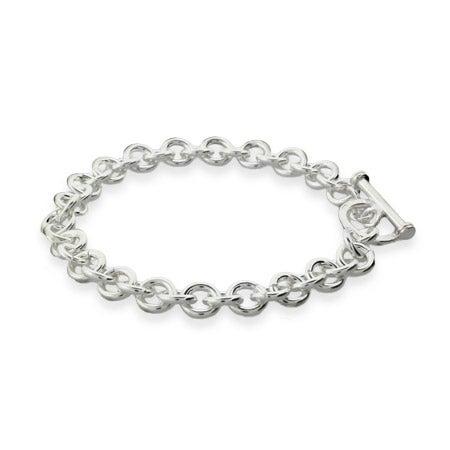 Sterling Silver Heavy Gauge 8 Inch Toggle Bracelet | Eve's Addiction®
