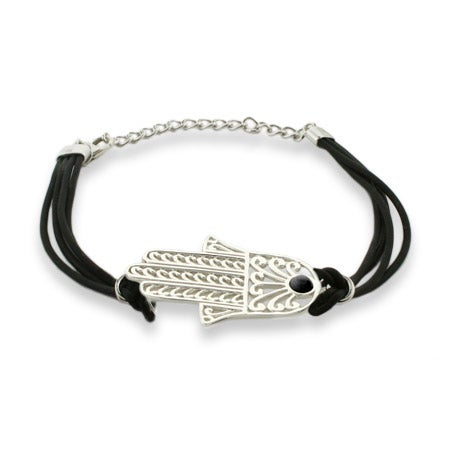 Magical Protection Hamsa Bracelet with Black Cord | Eve's Addiction®
