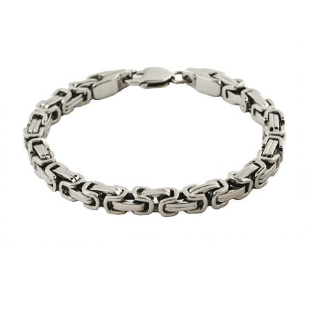 Men's Stainless Steel Bali Link Bracelet | Eve's Addiction®