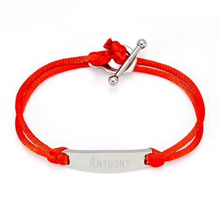 Engravable Stainless Steel Toggle ID Bracelet | Eve's Addiction®