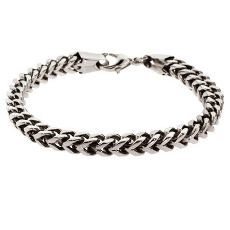 Men's Stainless Steel Foxtail Link Bracelet | Eve's Addiction®