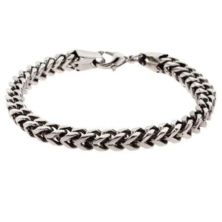 Men's Stainless Steel Foxtail Link Bracelet | Eve's Addiction®