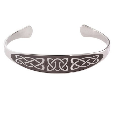 Engravable Celtic Knot Stainless Steel Cuff Bracelet | Eve's Addiction®