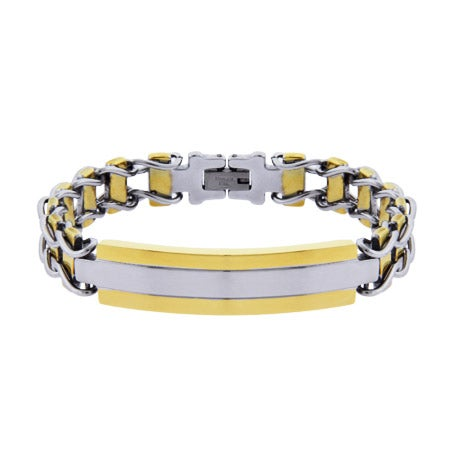 Men's Engravable Urban Style Ladder Link ID Bracelet | Eve's Addiction®