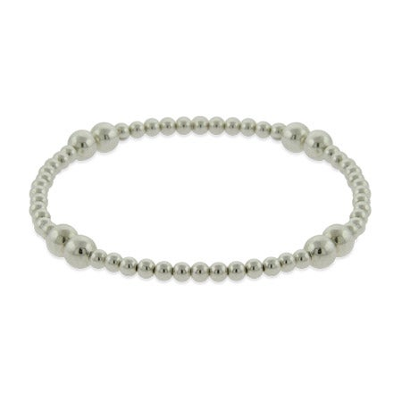 Sterling Silver Bead Stretch Bracelet | Eve's Addiction®