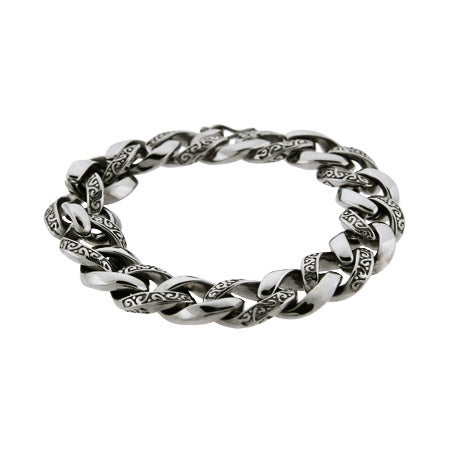 Men's Intricate Bali Interlocking Links Bracelet | Eve's Addiction®