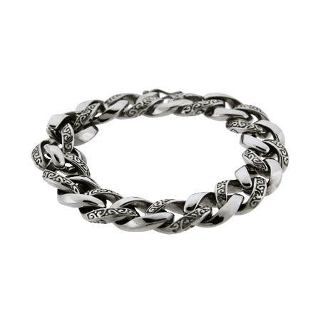 Men's Intricate Bali Interlocking Links Bracelet | Eve's Addiction®