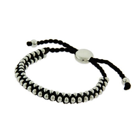 Black Beaded Friendship Bracelet | Eve's Addiction®