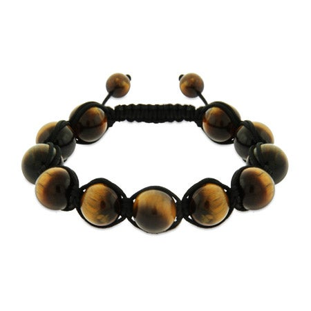 Tigers Eye Genuine Stone Courage Shamballa Style Bracelet | Eve's Addiction®