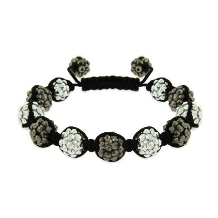 Metallic Studded Bead Shamballa Style Bracelet | Eve's Addiction®