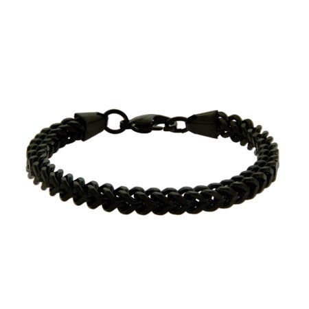 Men's Black Steel Foxtail Link Bracelet | Eve's Addiction®