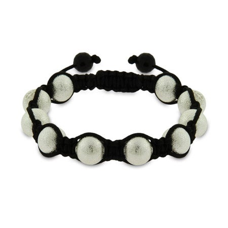 Sandblast Finish Shamballa Style Bracelet | Eve's Addiction®