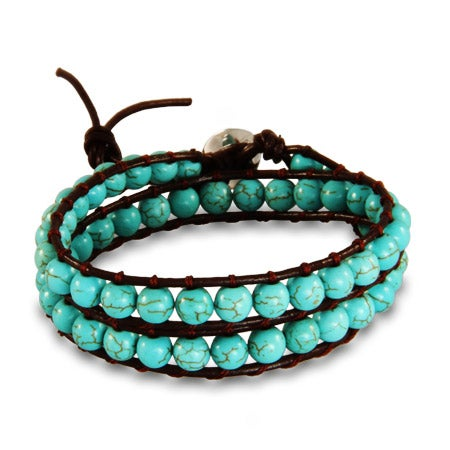Chen Rai Turquoise Beaded Wrap Bracelet | Eve's Addiction®