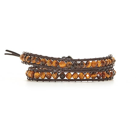 Chen Rai Genuine Tigers Eye Wrap Bracelet | Eve's Addiction®