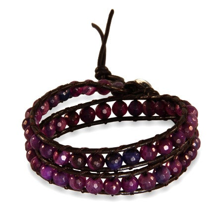 Chen Rai Genuine Amethyst Wrap Bracelet | Eve's Addiction®