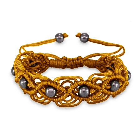 Golden Sunset Macrame Friendship Bracelet | Eve's Addiction®