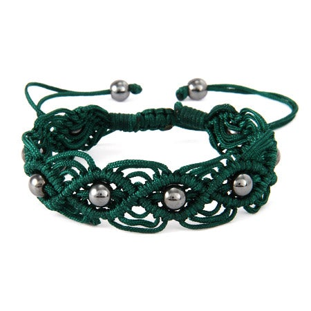 Forest Green Beaded Macrame Friendship Bracelet | Eve's Addiction®