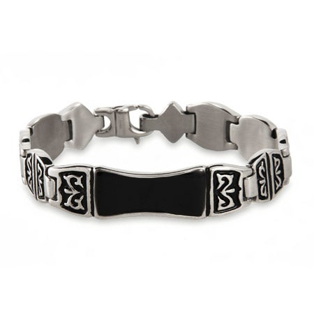 Men's Engravable Tribal Design ID Bracelet | Eve's Addiction®