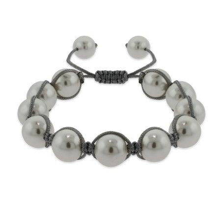 White Shell Pearl Shamballa Inspired Bracelet | Eve's Addiction®