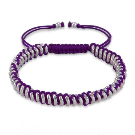 Purple Beaded Disc Friendship Bracelet | Eve's Addiction®