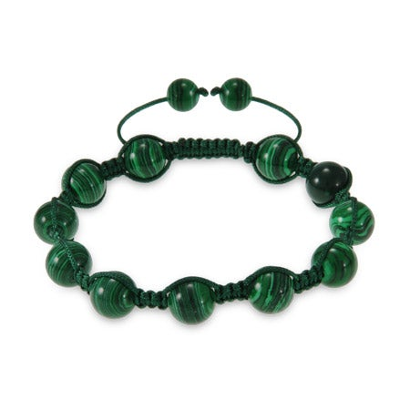 Green Agate Shamballa Style Bracelet | Eve's Addiction®