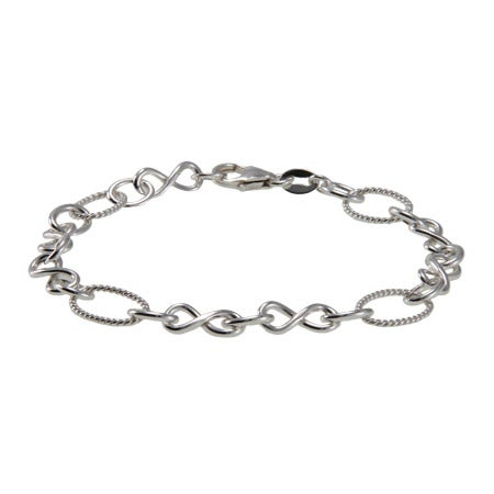 Sterling Silver Infinity Link Bracelet | Eve's Addiction®