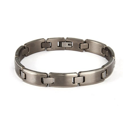 Men's Titanium Brushed Link Bracelet | Eve's Addiction®