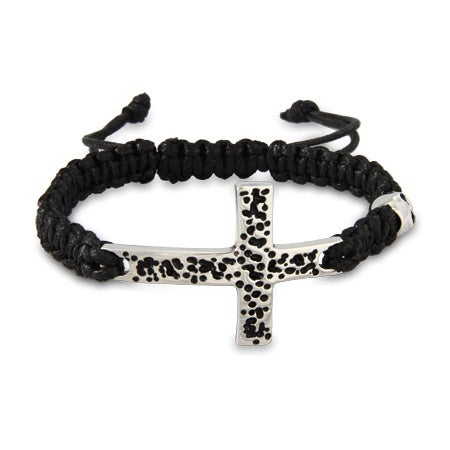 Men's Stainless Steel Cross Bracelet With Skull | Eve's Addiction®