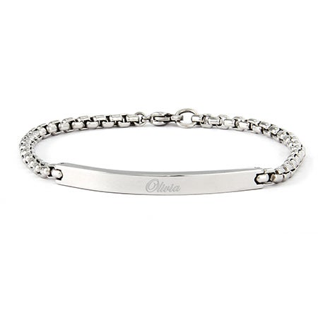 Round Box Link ID Bracelet | Eve's Addiction®
