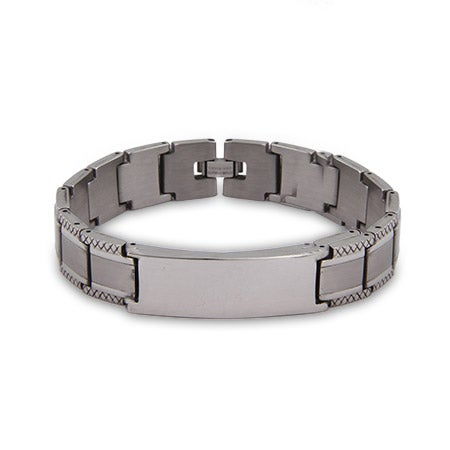 Engravable Men's Stainless Steel ID Bracelet | Eve's Addiction®
