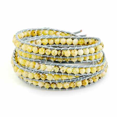 Chen Rai Yellow Turquoise Long Wrap Bracelet | Eve's Addiction®