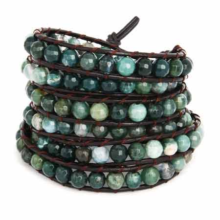 Chen Rai Green Beaded Wrap Bracelet | Eve's Addiction®