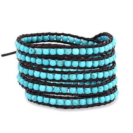 Turquoise Beaded Wrap Bracelet | Eve's Addiction®