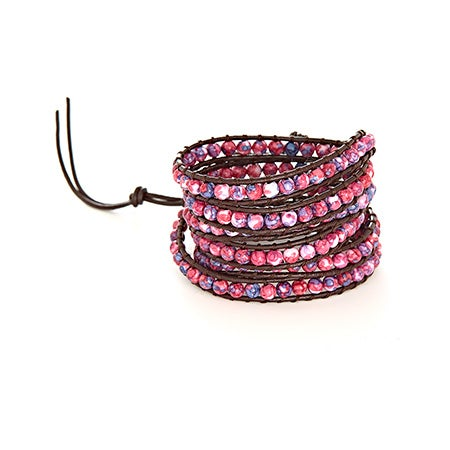 Chen Rai Purple Bead Long Wrap Bracelet | Eve's Addiction®