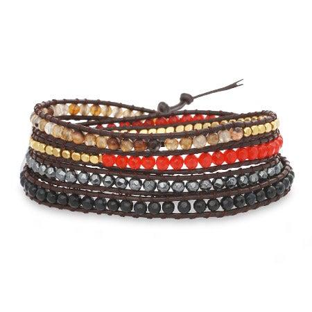 Chen Rai Mixed Stones Wrap Bracelet | Eve's Addiction®