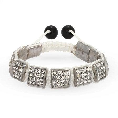 Diamond Crystal Ice Square Cut Shamballa Inspired Bracelet | Eve's Addiction®