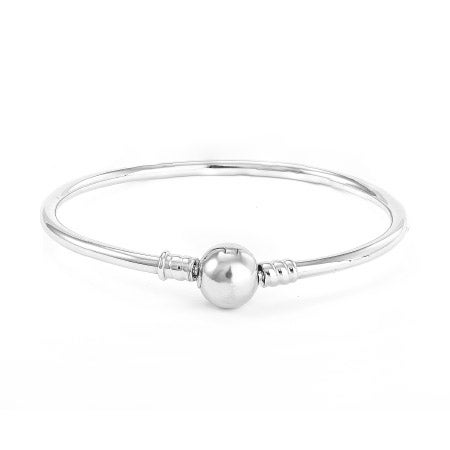 Pandora Charm Compatible Bangle Bracelet with Barrel Clasp | Eve's Addiction®
