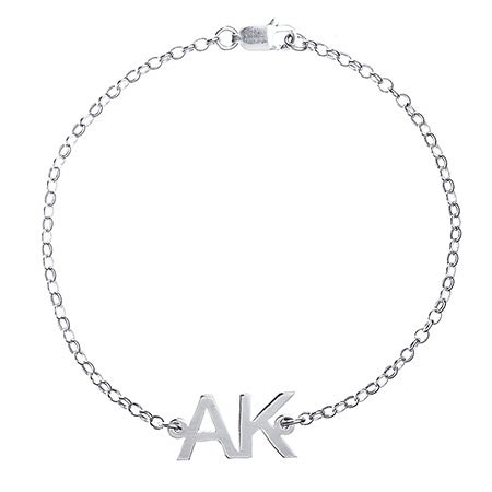 Two Initial Sterling Silver Bracelet | Eve's Addiction®