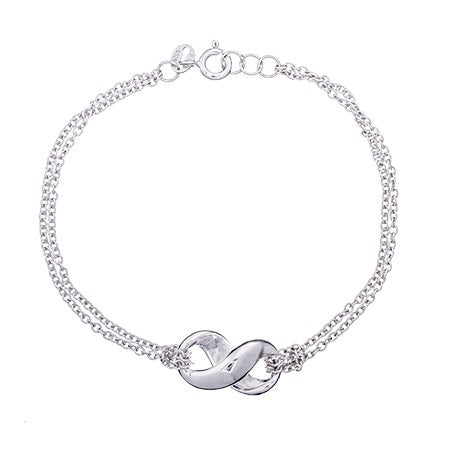 Designer Style Sterling Silver Infinity Bracelet | Eve's Addiction®