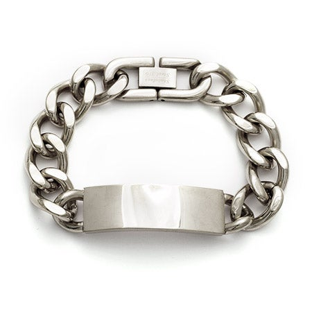 Engravable Ladies Stainless Steel Curb Chain ID Bracelet | Eve's Addiction®