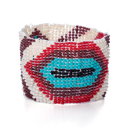 Chen Rai Aztec Style Earth Tones Beaded Bracelet | Eve's Addiction®