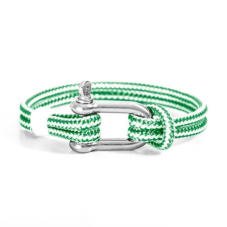 Miguel Chapino Green Nautical Rope Shackle Bracelet | Eve's Addiction®
