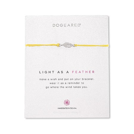Dogeared Light As A Feather Irish Linen Bracelet | Eve's Addiction®